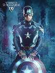 Captain America in stark tech suit