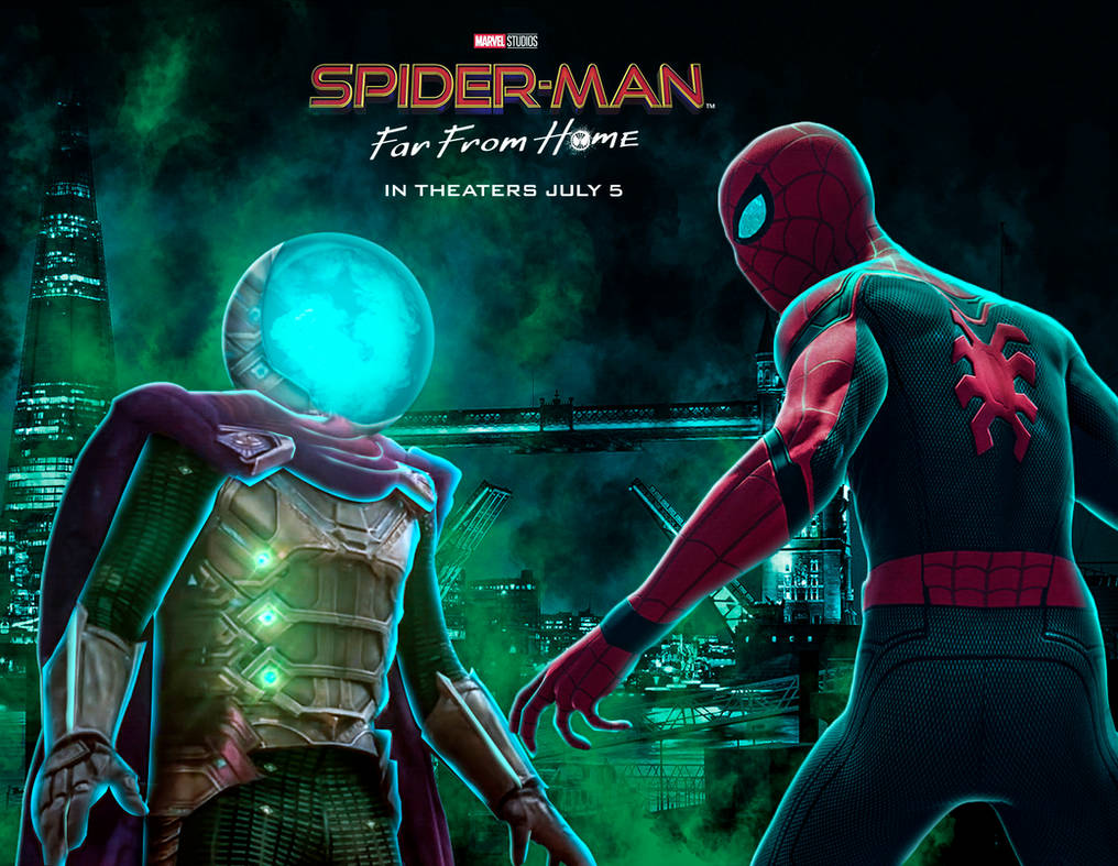 Movie Poster 2019: Spiderman V Mysterio: Far From Home By Itsharman On DeviantArt