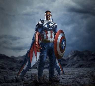 Falcon as captain america by itsharman