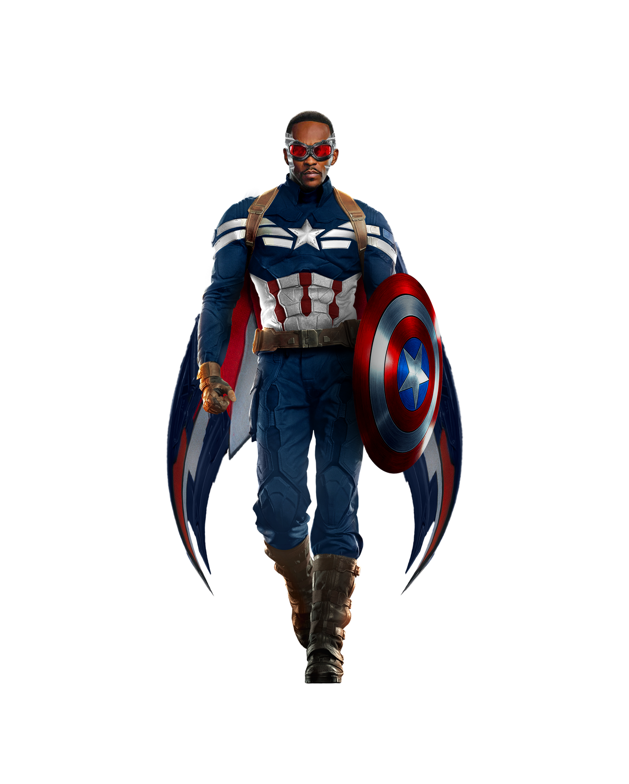 Falcon as Captain America PNG by itsharman on DeviantArt
