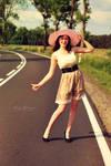 Autostopem.