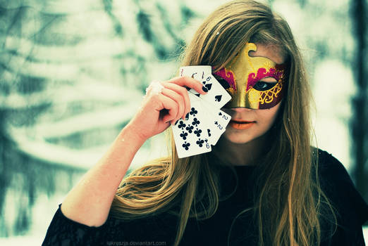 Poker face.