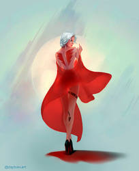 Lady in red by Skinetneo