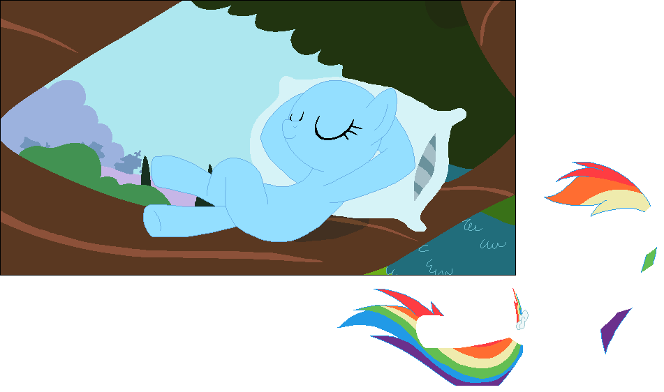 Peace in Ponyville! Rainbow Dash Base! - #8 by MyLilAdoptables