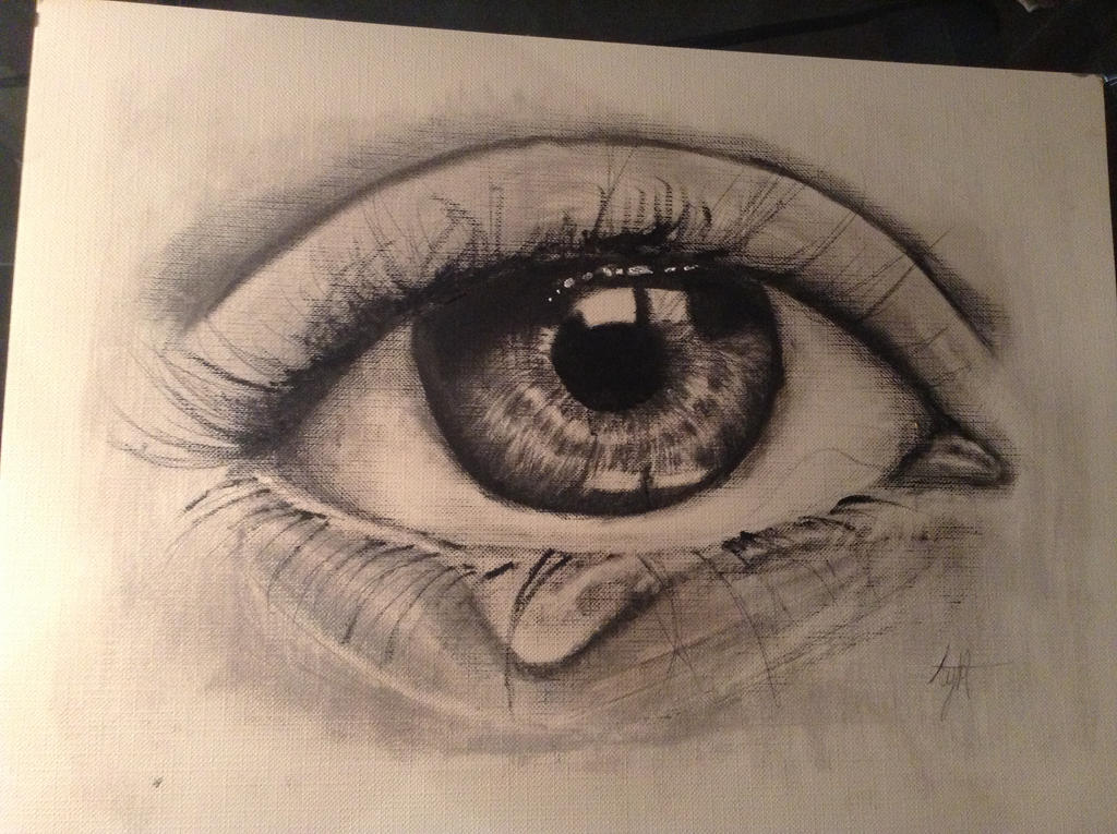 Eyes Crying Painting Painting of Crying Eye by