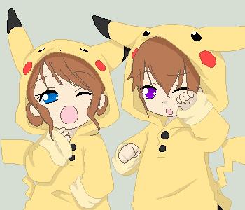 Anime couple chibi by RougetheBat7968