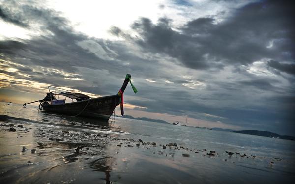Railay Beach - Longtail Boat by vzey