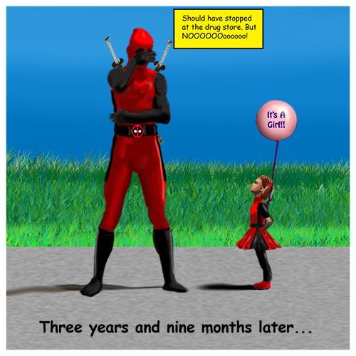 Deadpool meets his Kid
