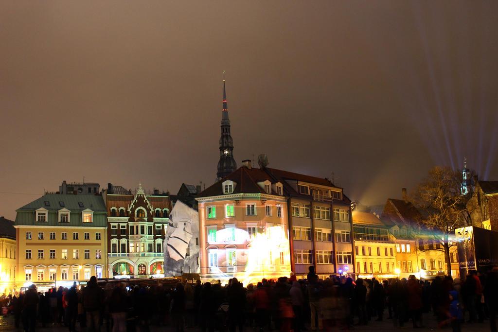 Riga at Night by IronCrusader