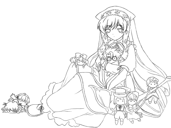 Master Suiseiseki Line Art by Bakufun721