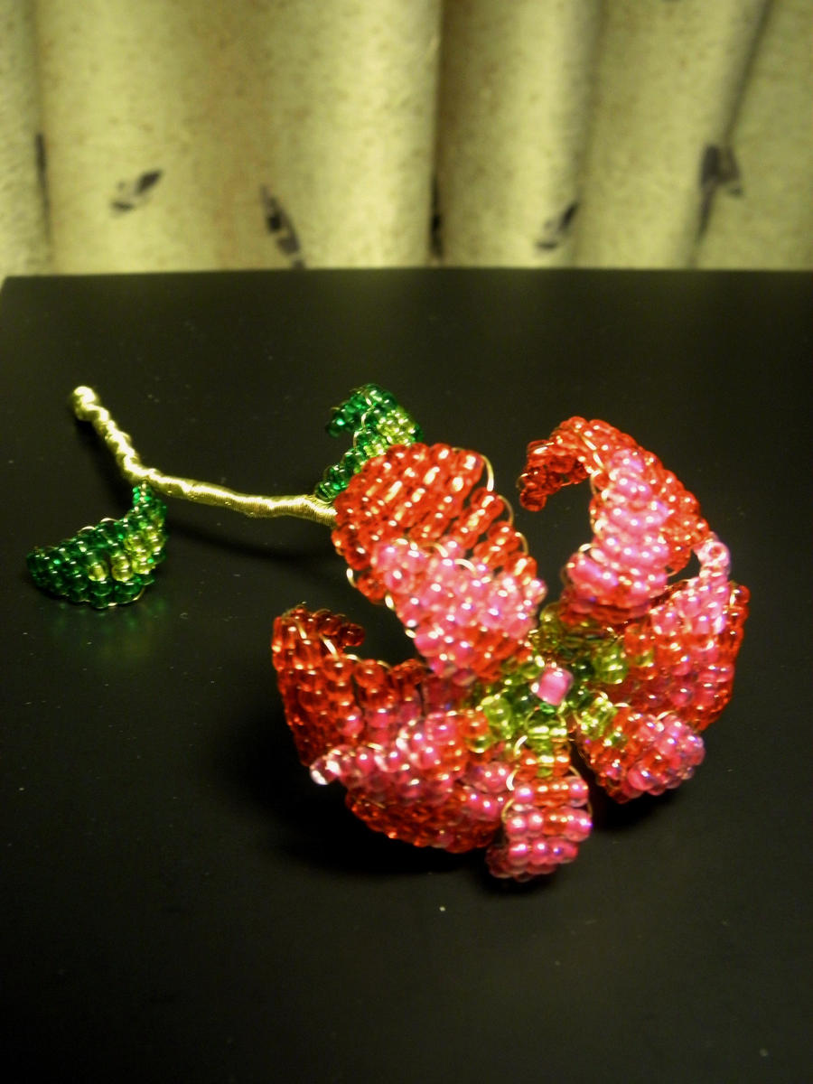 Red Passion Wire Flower by HSM-Version-42a