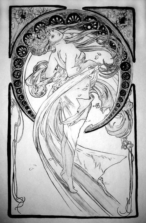Alphonse mucha by kaoru hime