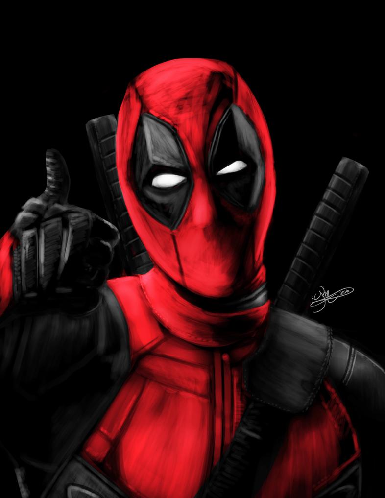 Deadpool Sketch by KiraMoses