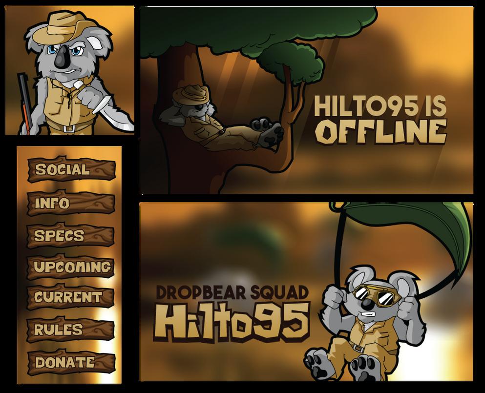 Hilto95 Twitch Branding by KiraMoses