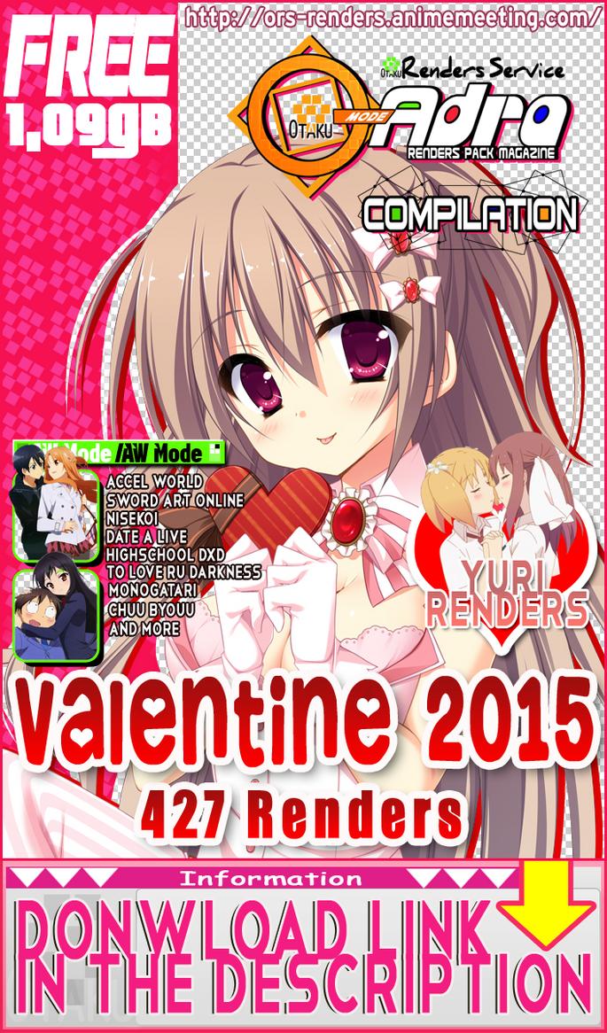 (PNGs Pack)ORS Quadra Compilation:Valentine 2015 by OtakuRenders-Service