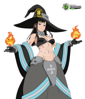 Fire Force Maki Hyper HOT Pyro Mahou HD Vector v1