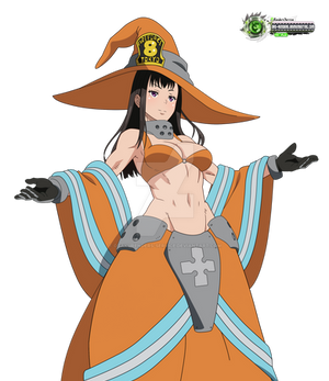 Fire Force:Maki Hyper HOT Pyro Mahou HD Vector v2