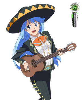 Konosuba:Aqua Ultra Fun Mariachii HD Vector