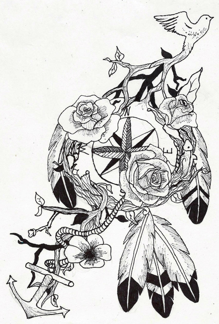 Dreamcatcher Drawing With Quote Images amp Pictures Becuo
