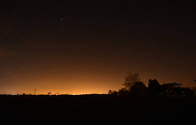 Light pollution or city halo by nazgulXVII