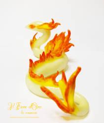 Flamen, Fire Spirit dragon 2 by rosepeonie