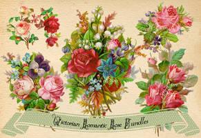 Victorian Romantic Rose Bundles by rosepeonie