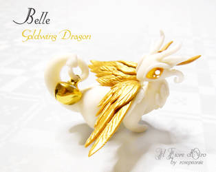 Belle, Goldwing dragon by rosepeonie