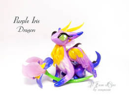 Purple Iris dragon by rosepeonie