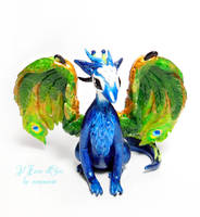 Peacock Dragon by rosepeonie