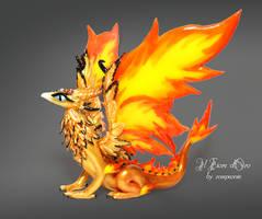 Phoenix dragon by rosepeonie