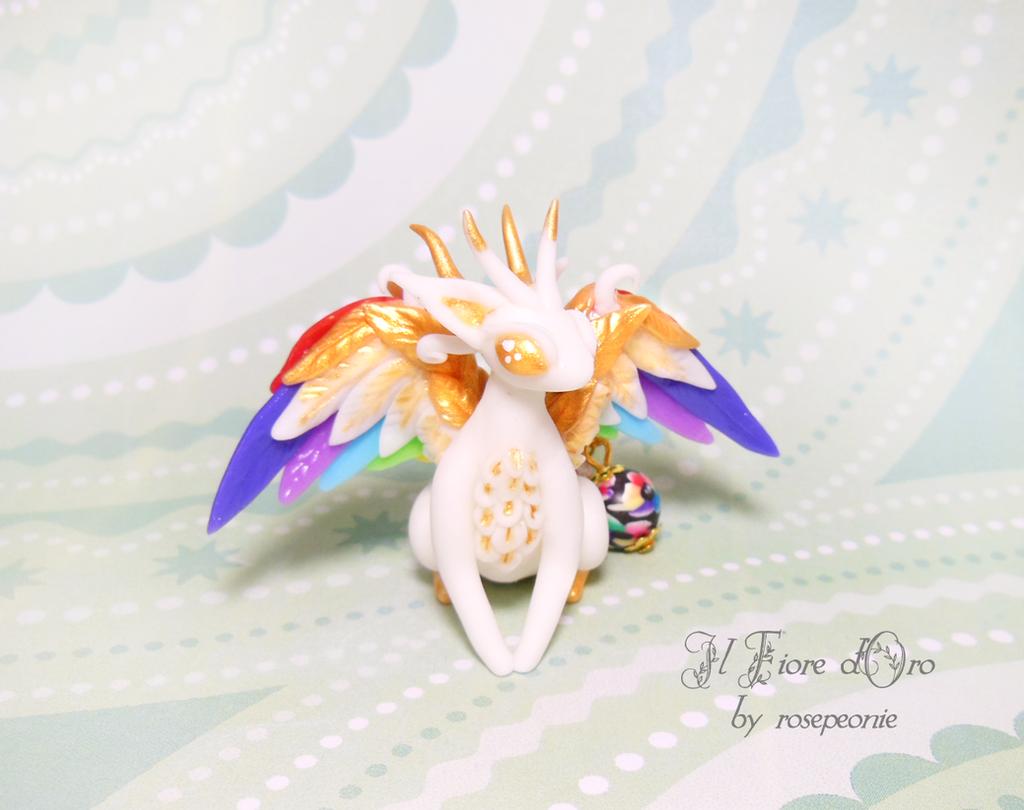 Ethel, Rainbowing dragon by rosepeonie