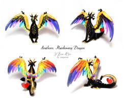 Arathorn, Rainbowing dragon by rosepeonie