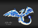 Blue porcelain dragon (back)