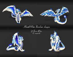 Blue porcelain dragon by rosepeonie