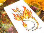 Illustration - Fire Spirit dragoness