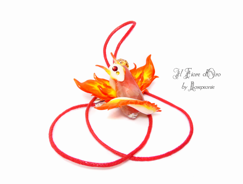 Fire Spirit necklace 2 by rosepeonie