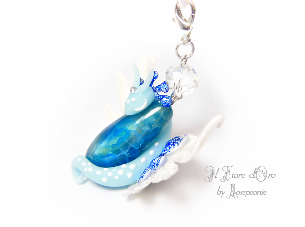 Ice Dragon necklace 2 by rosepeonie