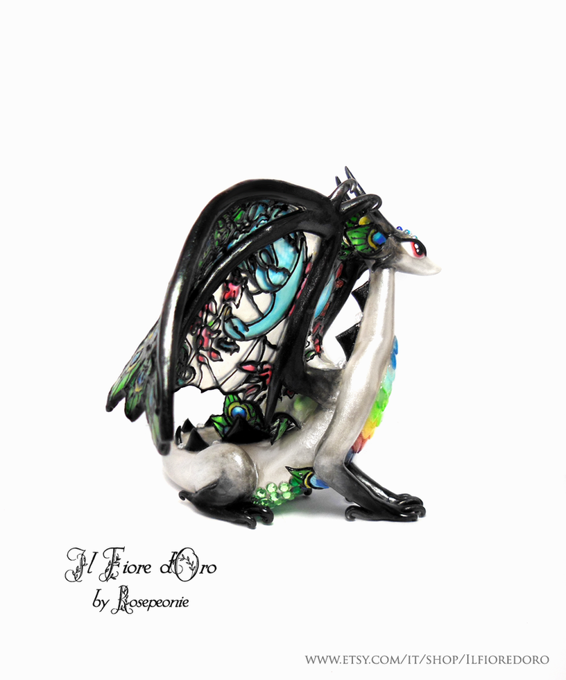 Peacock Glasswing Dragon (deluxe) 4 by rosepeonie