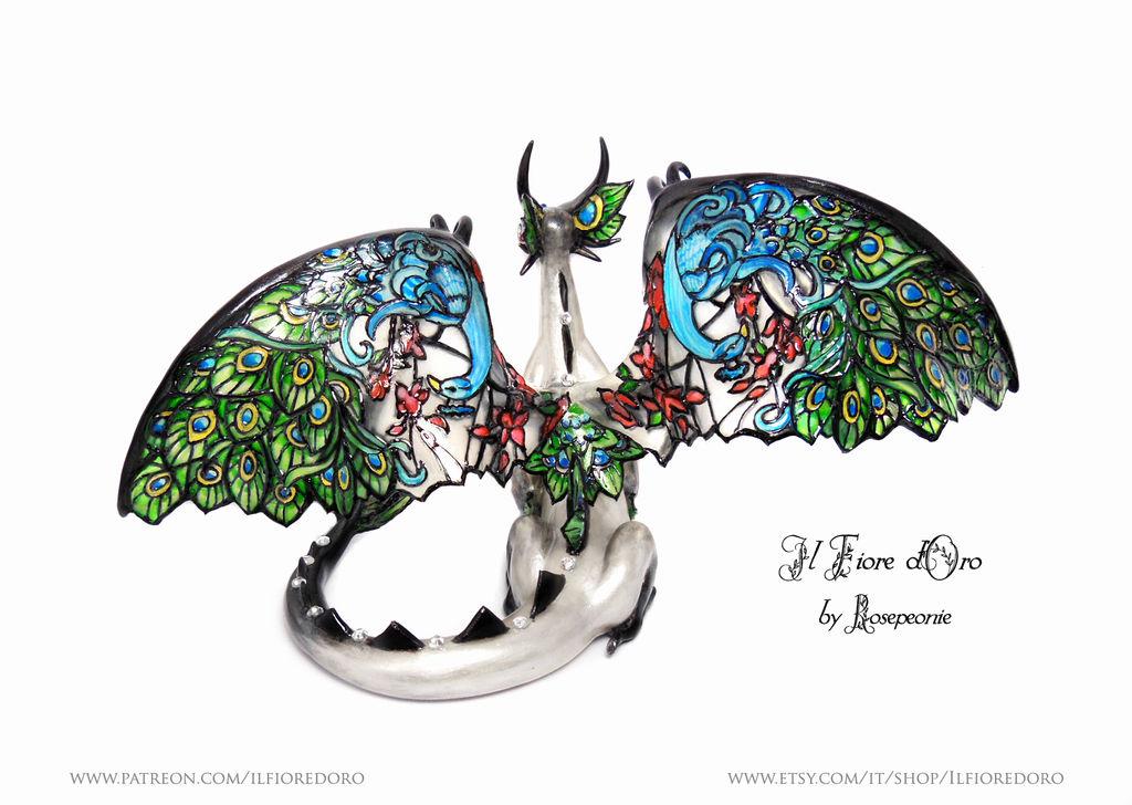 Peacock Glasswing Dragon (deluxe)3