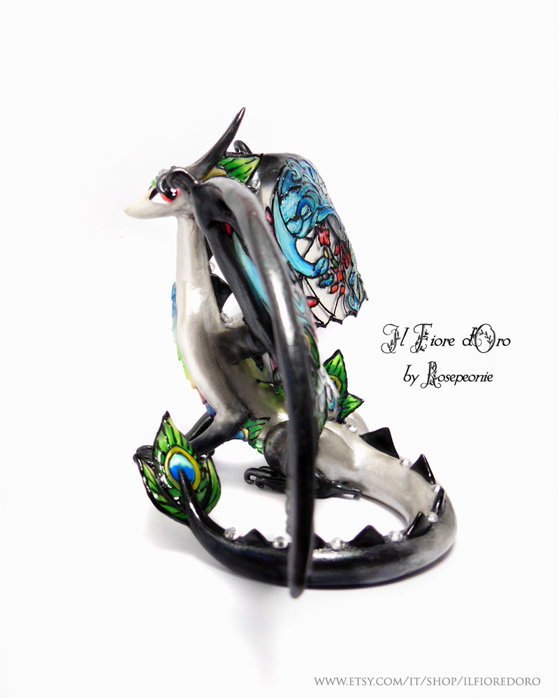 Peacock Glasswing Dragon (deluxe)2 by rosepeonie