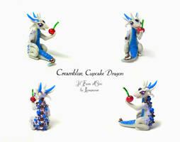 Cupcake Dragon Creamblue by rosepeonie