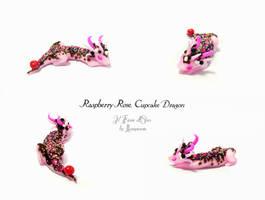 Cupcake Dragon Raspberry Rose by rosepeonie