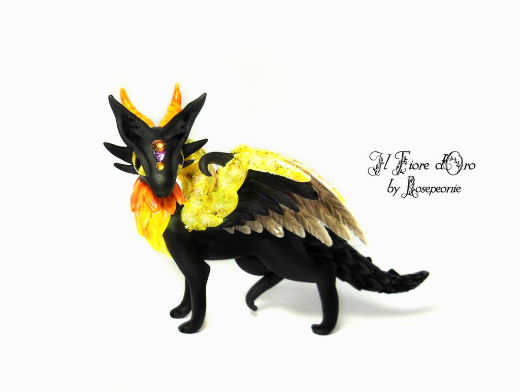 Fox Dragon by rosepeonie