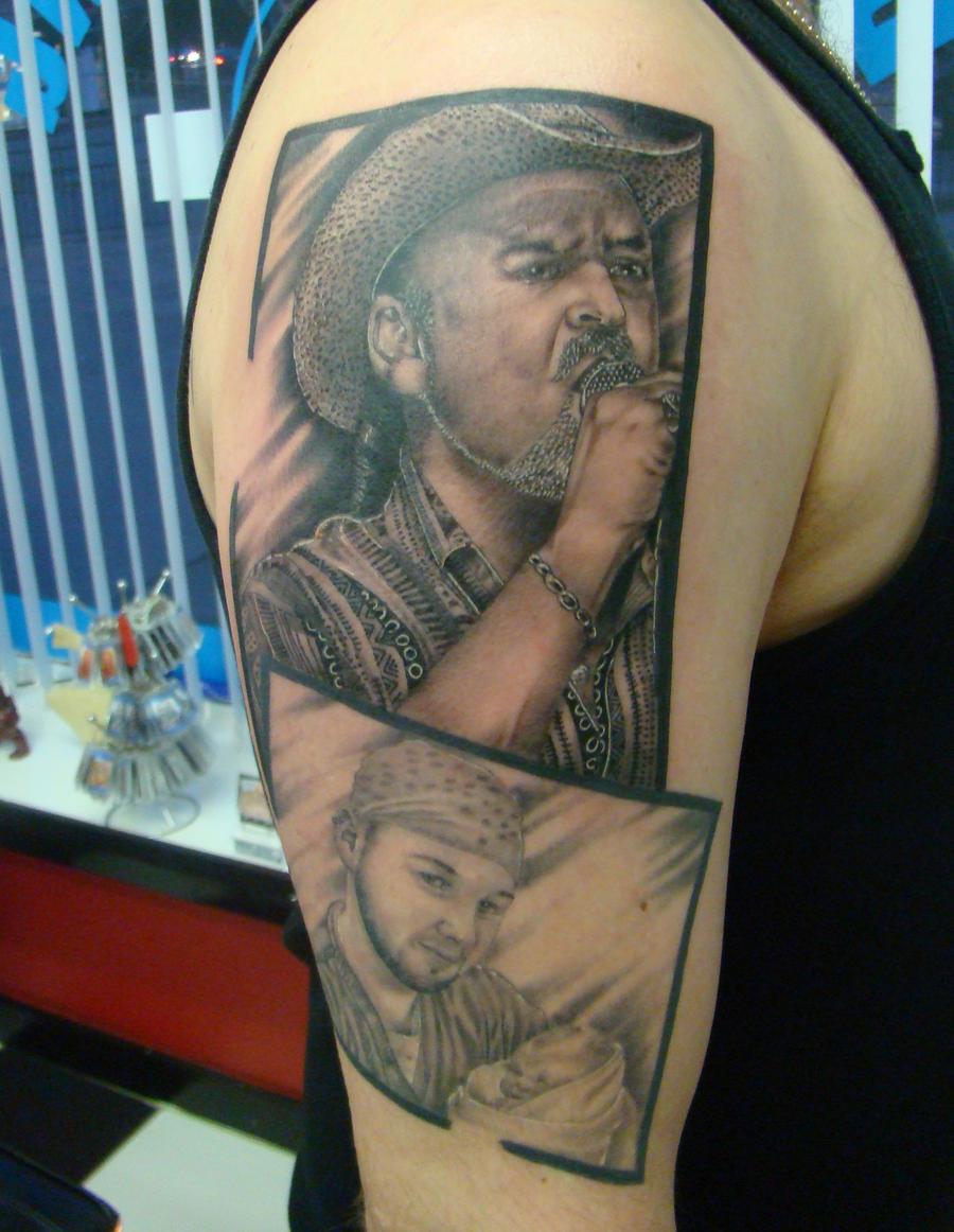 ken patten portrait tattoo