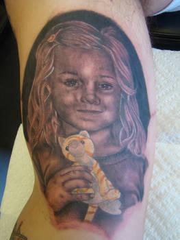 ken patten - portrait tattoo