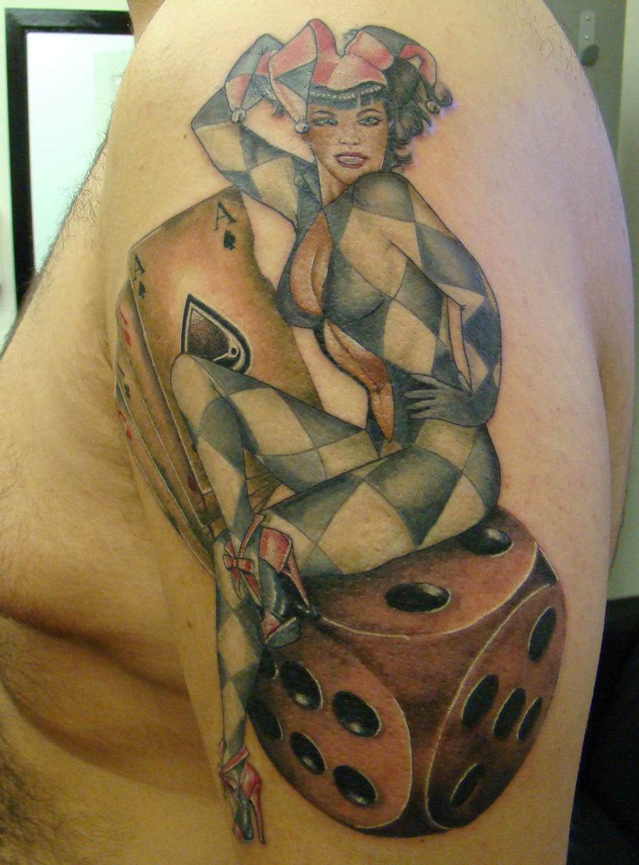 ken patten joker dice tattoo by the tattoo station on deviantart. Black Bedroom Furniture Sets. Home Design Ideas
