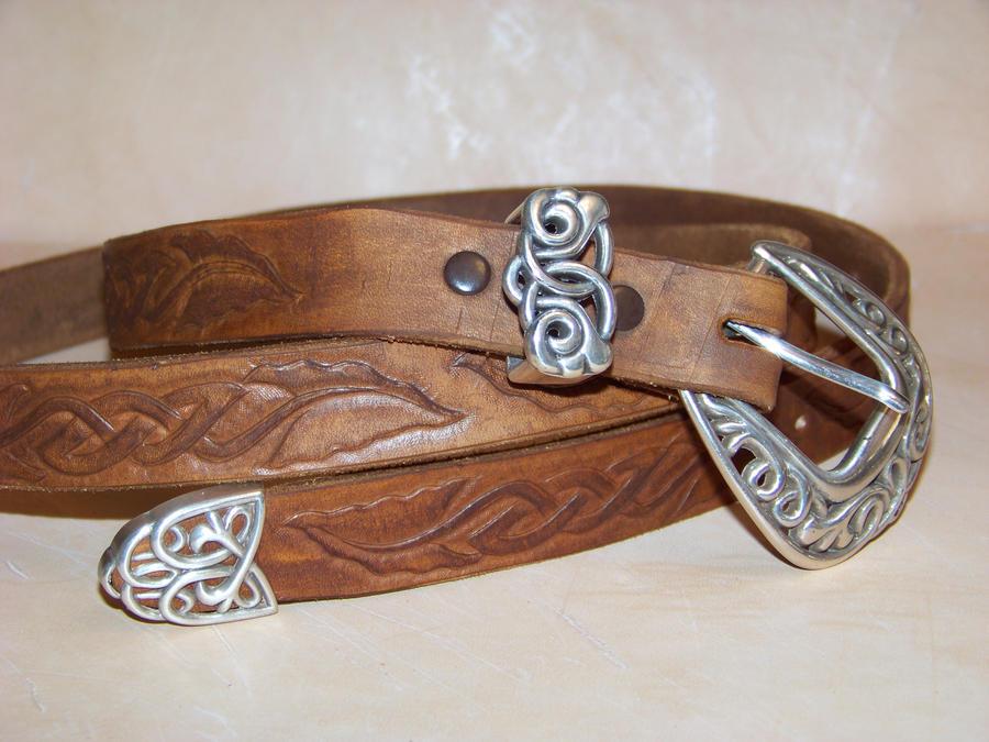 1st celtic leather belt by merrillsleather on deviantart