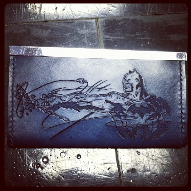 Batman clutch purse by MerrillsLeather