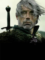 Mad Mikkelsen as Geralt of Rivia by Cuba91