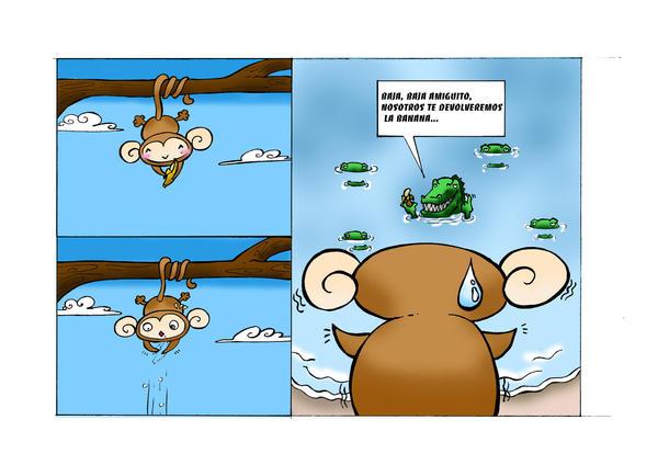 happy monkey by emimery